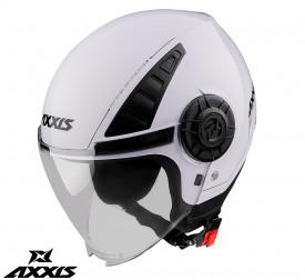 Casca Axxis model Metro A0 alb lucios (open face)