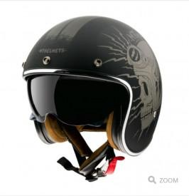 Casca open face motociclete MT Le Mans 2 SV NEGRU mat (ochelari soare integrati)