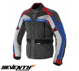 Geaca motociclete barbati Touring Seventy vara/iarna model SD-JT43 culoare: gri/rosu/albastru