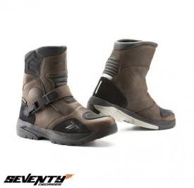 Ghete (cizme) moto Adventure (Touring) Unisex Seventy model SD-BA5 culoare: maro