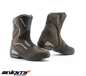 Ghete (cizme) moto Touring Unisex Seventy model SD-BT3 (varianta scurta a ghetelor SD-BT2) maro