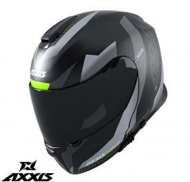 Casca modulabila Axxis model Gecko SV Shield B2 gri lucios (ochelari soare integrati)