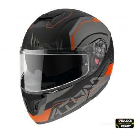 Casca moto flip-up MT Atom SV Quark A4 portocaliu mat