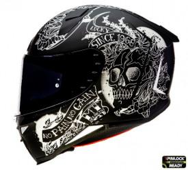 Casca moto integrala MT Revenge 2 Skull&Rose A1 negru mat