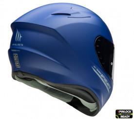 Casca moto integrala MT Targo solid A7 albastru mat