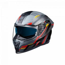 Casca moto integrala Nexx SX.100R Gridline Grey/Red MT
