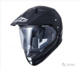 Casca off road motociclete MT Synchrony Duo Sport negru mat / lucios cu viziera (ochelari soare integrati)