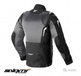 Geaca (jacheta) motociclete femei Touring Seventy vara model SD-JT46 culoare: alb negru/gri –