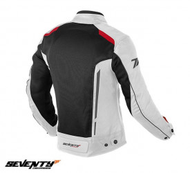 Geaca (jacheta) motociclete femei Touring vara Seventy model SD-JT36 culoare: alb/rosu