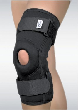 ORTEZA DE GENUNCHI CU SUPORT PATELAR SI ARTICULATII MOBILE( Mobile knee orthosis with patelar support and articulated)