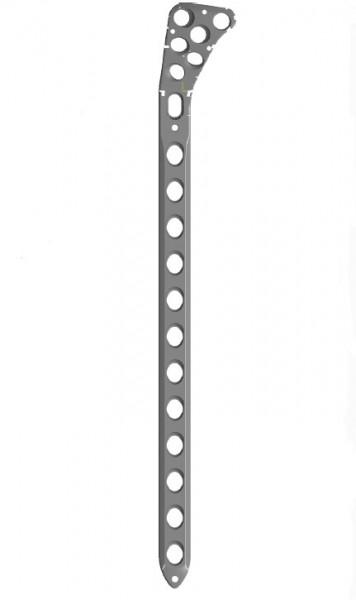 Placa de tibie proximala poliaxiala pentru osteosinteza fracturii de tibie