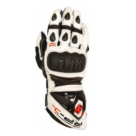 MANUSI RP-1 SUMMER GLOVES WHITE/BLACK 2XL