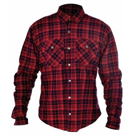 KICKBACK SHIRT CHECKER ROSU/BLK M