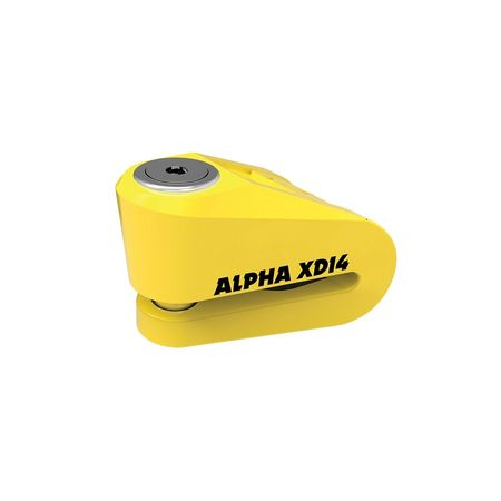 ALPHA XD14 STAINLESS DISC LOCK (14mm PIN) YELLOW