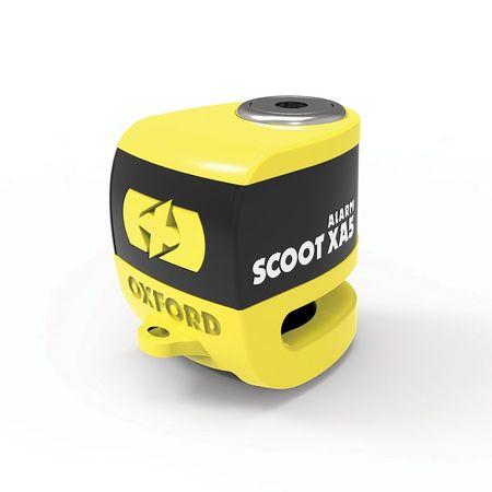 SCOOT XA5 ALARM DISC LOCK (5.5mm PIN) YELLOW/NEGRU -