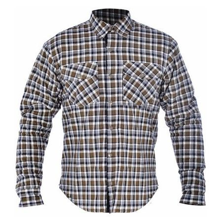 KICKBACK SHIRT CHECKER KHA/WHT M