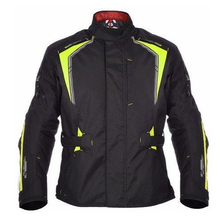 GEACA MOTO SUBWAY 3.0 MEN LONG JACKET BLACK/FLUO XL/44