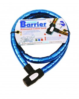 BARRIER AMOUROSU CABLE LOCK - BLUE