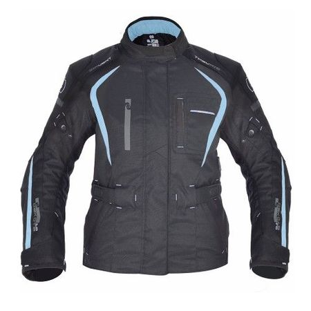 GEACA MOTO DAKOTA DAMA LONG TEXTILE JACKET BLACK/BLUE 14
