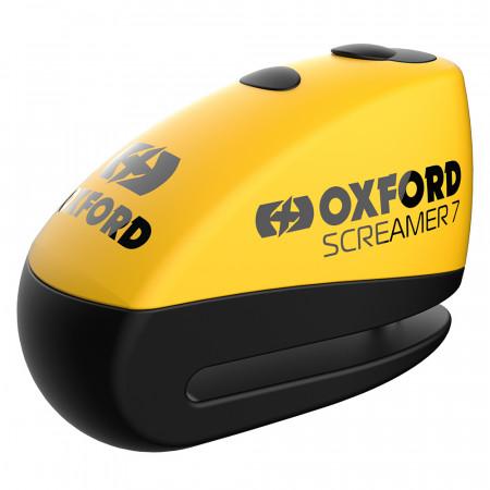 OXFORD - SCREAMER XA7 ALARM DISC LOCK YELLOW/MATT BLACK