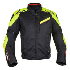 GEACA MOTO ESTORIL 2.0 MEN SHORT JACKET BLACK/FLUO 2XL/46