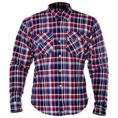 KICKBACK SHIRT CHECKER ROSU/BLU L