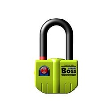 BIG BOSS ALARM DISC LOCK (16MM) - YELLOW