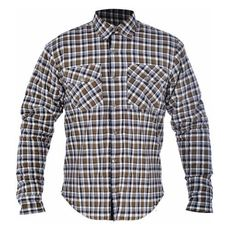 KICKBACK SHIRT CHECKER KHA/WHT L