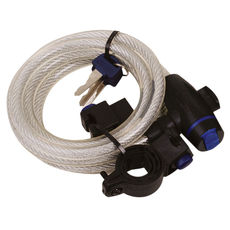 CABLE LOCK 1.8M X 12mm - CLEAR