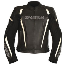 GEACA MOTO SPARTAN MEN LEATH SPORTS JACKET BLACK 2XL/46
