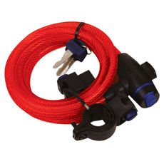 CABLE LOCK 1.8M X 12mm - ROSU