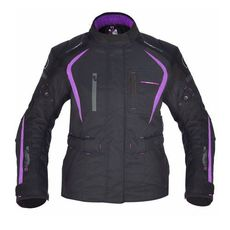 GEACA MOTO DAKOTA DAMA LONG JACKET BLACK/PURPLE 12
