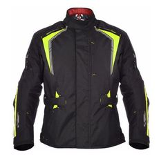 GEACA MOTO SUBWAY 3.0 MEN LONG JACKET BLACK/FLUO M/40