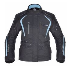 GEACA MOTO DAKOTA DAMA LONG TEXTILE JACKET BLACK/BLUE 10