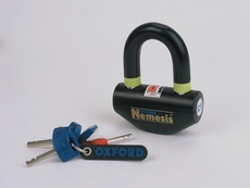 NEMESIS DISC LOCK AND PADLOCK - NEGRU