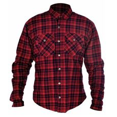 KICKBACK SHIRT CHECKER ROSU/BLK L