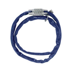 COMBI CHAIN COMBINATION LOCK 36' - BLUE