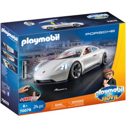 Figurina Rex Dasher cu Masina Porsche Mission E, Colectia The Movie