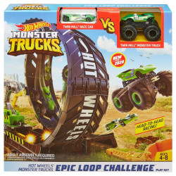 Set de joaca Circuit Hot Wheels Monster Trucks, Provocare pe pista