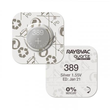 Baterii ceas Rayovac 389 (AG10) oxid argint 10 buc