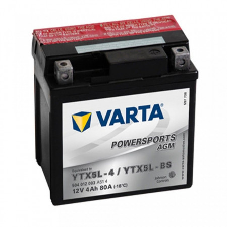 Acumulator Moto Varta AGM 12V 4Ah YTX5L-BS