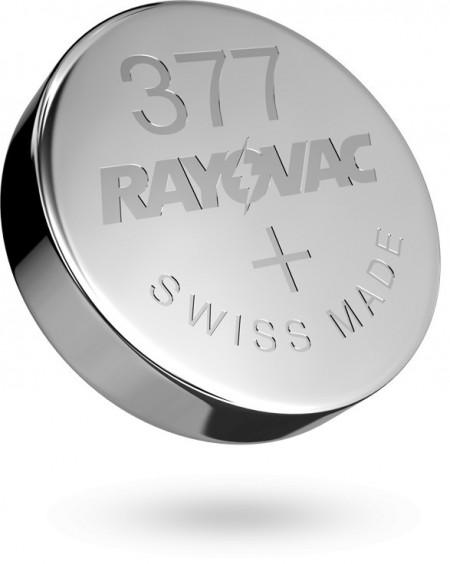 Baterii ceas Rayovac 377 (AG4) cu oxid Argint 10 buc