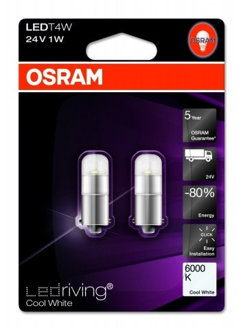 Poze SET 2 x OFF-ROAD LED T4W 24V Osram 3924CW-02B