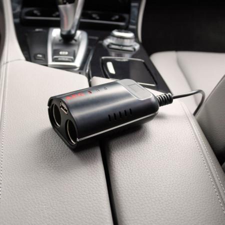AEG DB 2.1 bricheta auto dubla+USB 2.1A