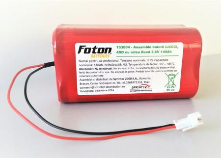 Baterie 4DD LiSoCl2 3.6V 140Ah