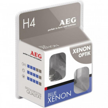 AEG set becuri auto halogen H4 Blue Xenon