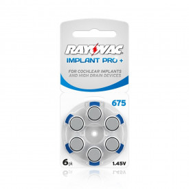 Baterii auditive 675CP Rayovac Implant Pro+
