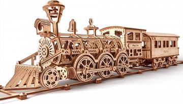 Puzzle lemn 3D Locomotiva R17 405 piese