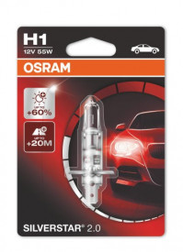 Bec auto H1 Osram Silverstar 12V 55W 64150SVS