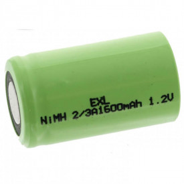 Acumulator NiMH 2/3A Exell 1.2V 1600mAh